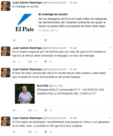 Tuits Juan Camilo Restrepo
