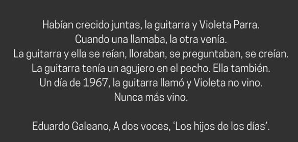 Galeano sobre Violeta